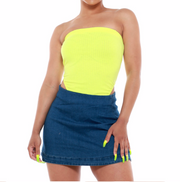 Ribbed High Cut Strapless Bodysuit - {2 colors available} - The House of Stylez