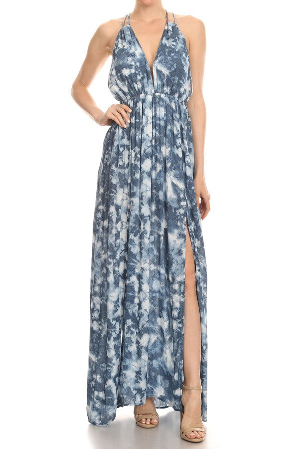 THE DENIM ILLUSION MAXI DRESS - The House of Stylez