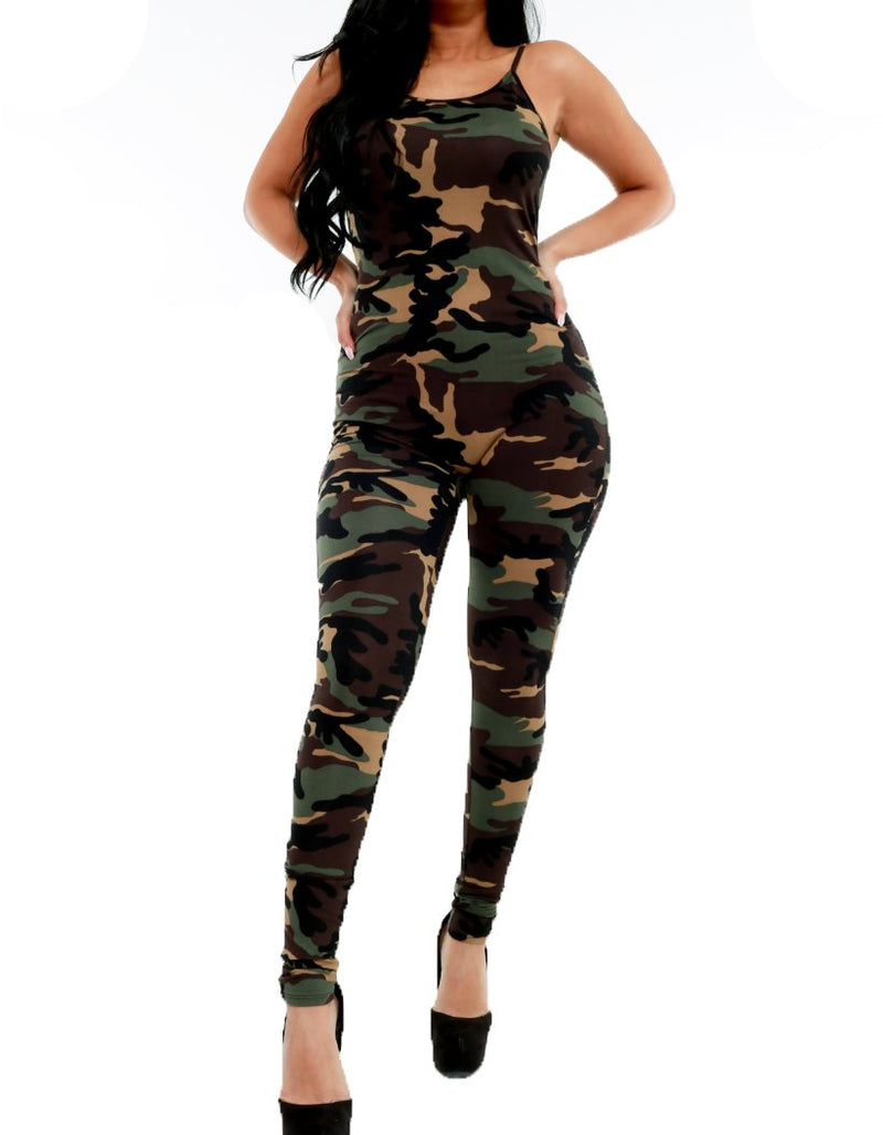 Spagetti Strap Jumper - Camo - The House of Stylez