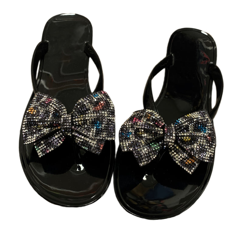 Bling Bow Thong Sandals -Mutli Color Leopard - The House of Stylez