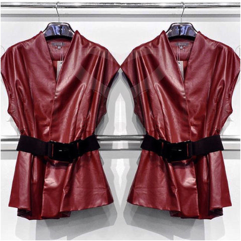 Pleather Vest Jacket - The House of Stylez