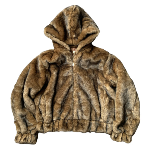 The Faux Fur Hoody Jacket