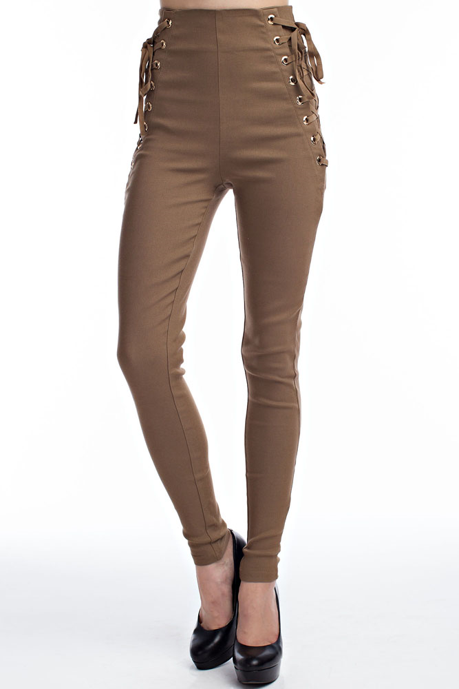 Laced Up Slim Fit Pants