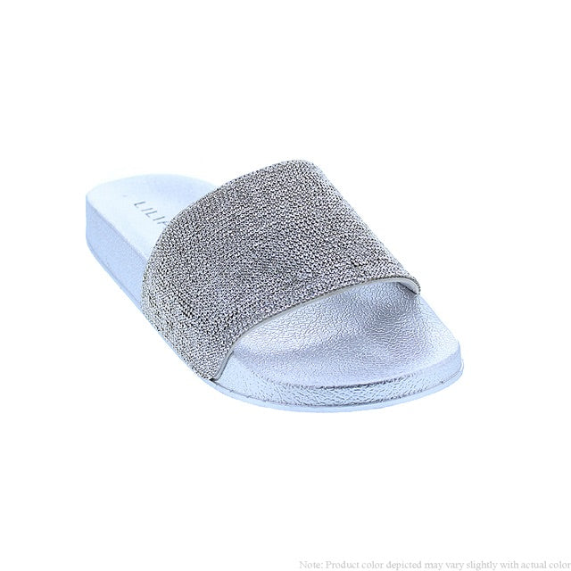 Bling Slides - Silver/Silver - The House of Stylez