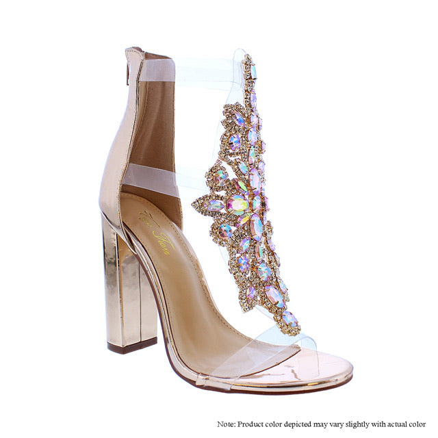 Jewel Claire - Rose Gold {Stones are Pink Iridescent} - The House of Stylez