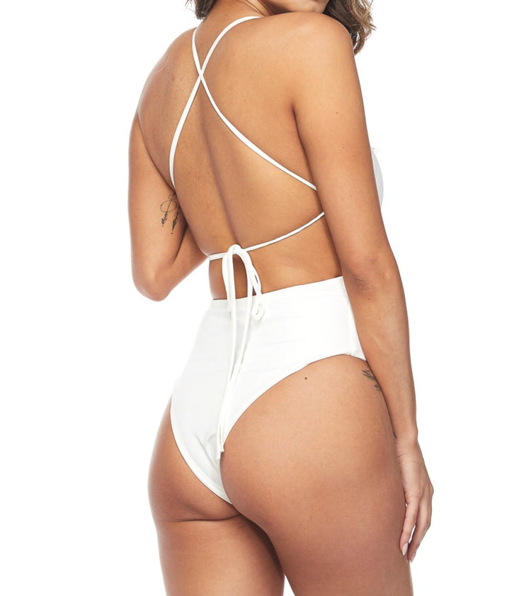 Criss Cross Bodysuit: {swimsuit material} (Comes in Three Colors) - The House of Stylez