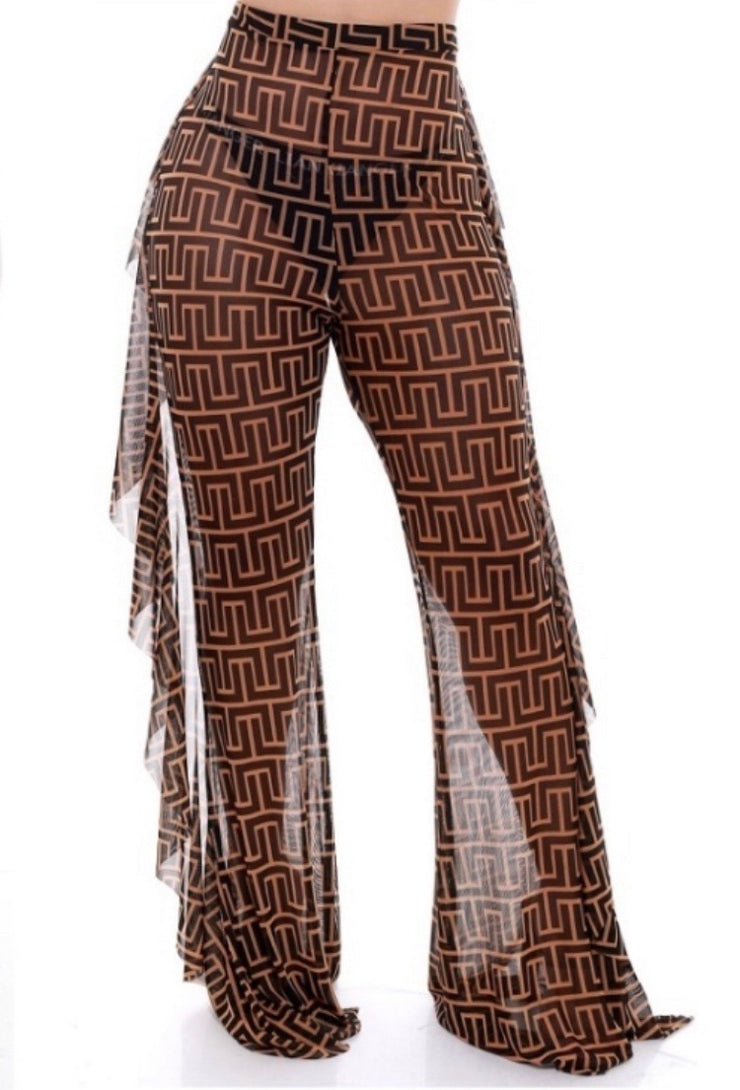 Pattern Mesh Pants - The House of Stylez