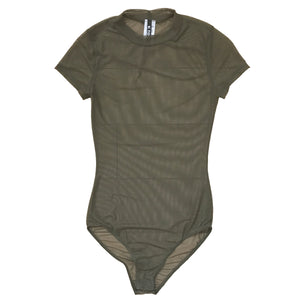 See-Thru Mock Neck Bodysuit - {Available in 4 Colors} - The House of Stylez
