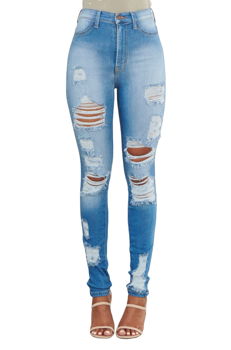 {MP1837} Distressed Skinny Jeans