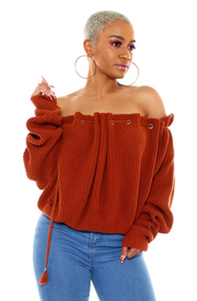 Off the Shoulder Long Sleeve Sweater -{3 colors available} THIS SWEATER IS OVERSIZED PLEASE TEXT 470 449 9700 IF YOU NEED HELP ORDERING - The House of Stylez