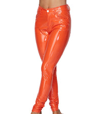Latex Jeggings - Orange - The House of Stylez