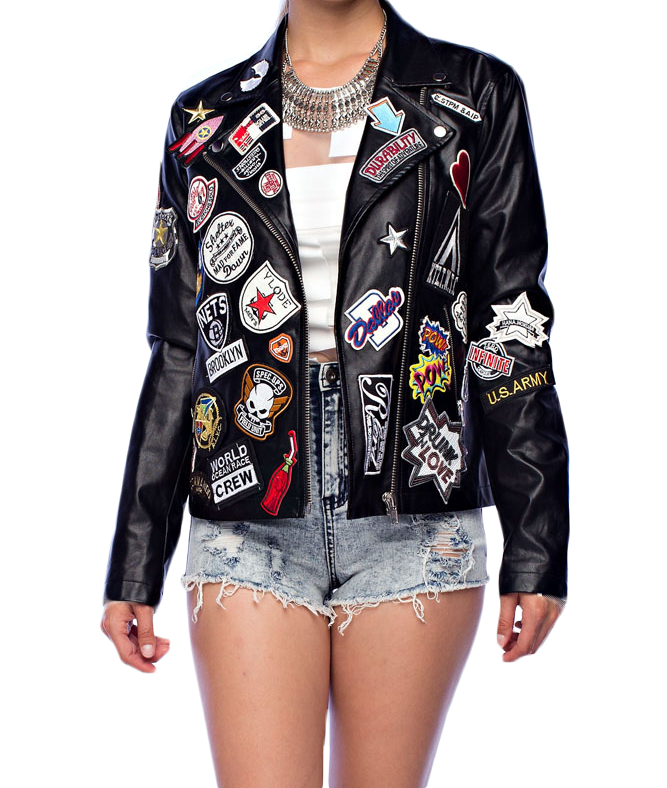 The Patched Out Motorcycle Jacket - The House of Stylez