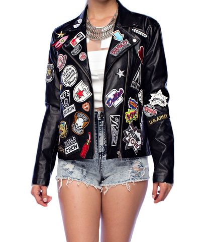 The Patched Out Motorcycle Jacket