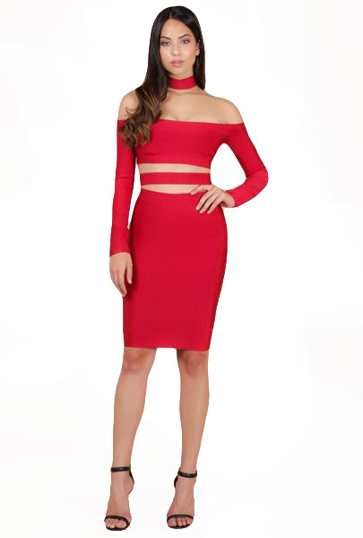 The Red Bandage Dress - The House of Stylez