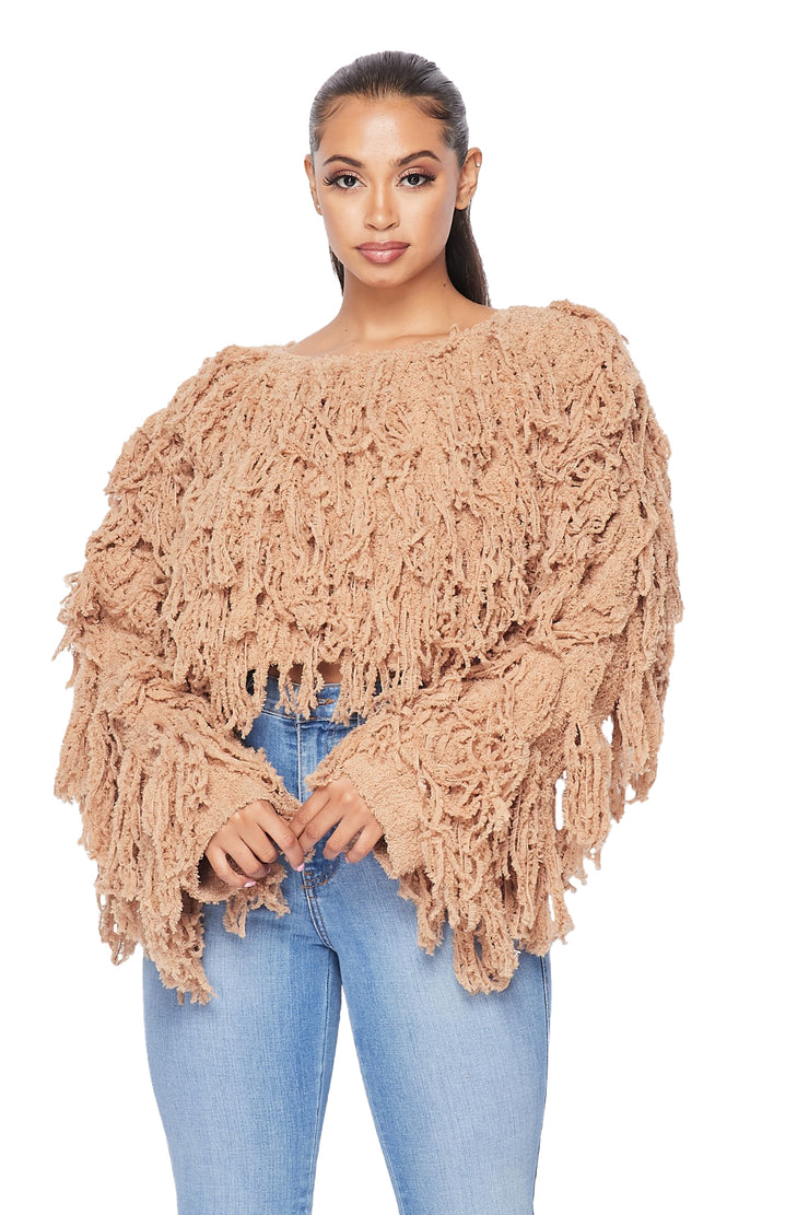 Shaggy Cropped Sweater - {3 Colors Available}