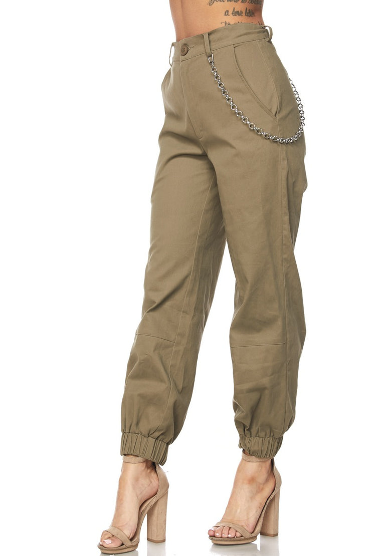 Chain Attached Joggers - The House of Stylez