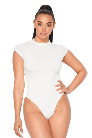 Scoop Neck Side Boob Bodysuit (Three Colors Available)