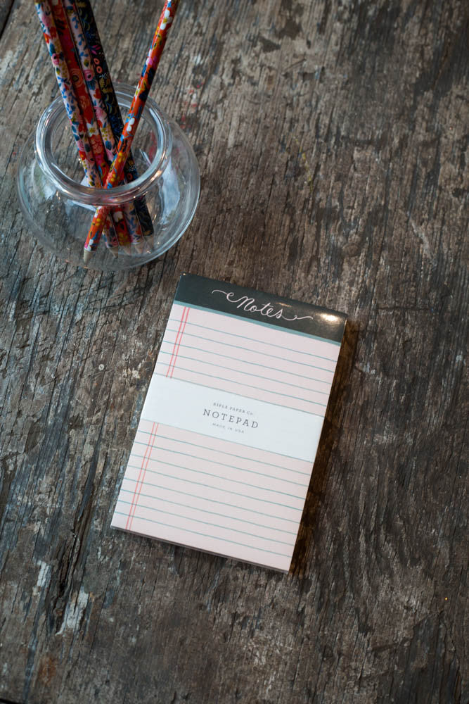 Rose Lined Notepad