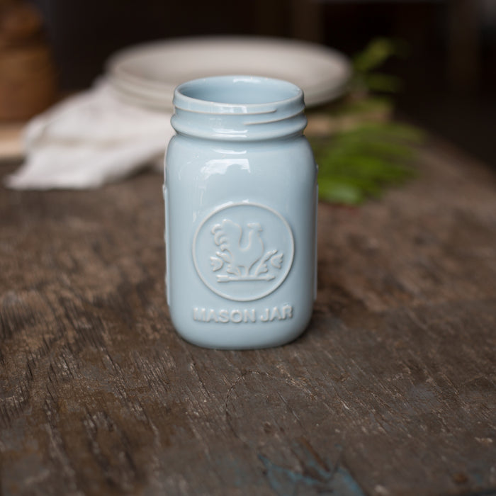 Mason Jar Light Blue