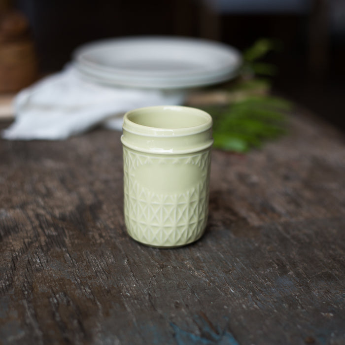 Celadon Quilted Jar