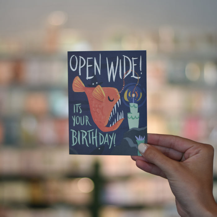 Open Wide Card