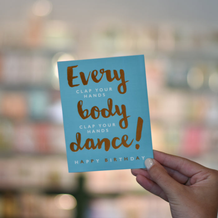 Every Body Dance Card