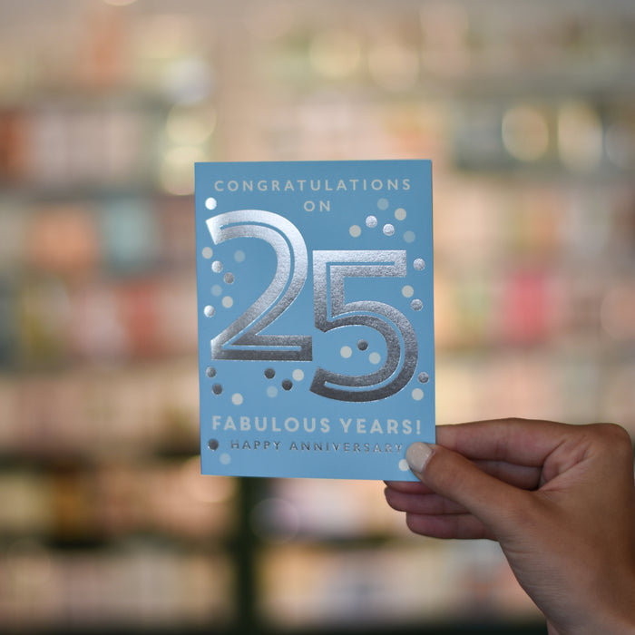 25th Anniversary Card