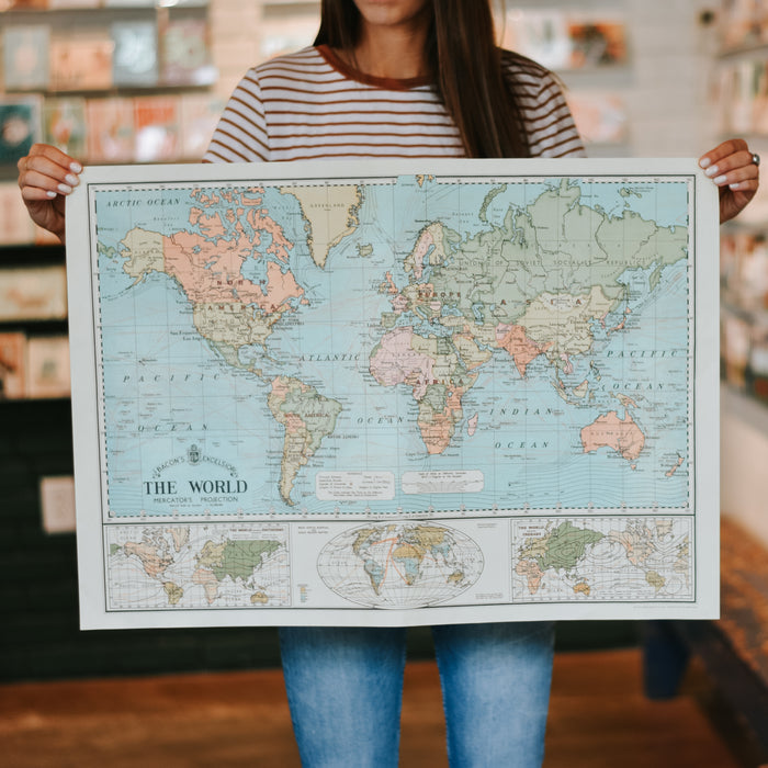World Map Wrap Sheet