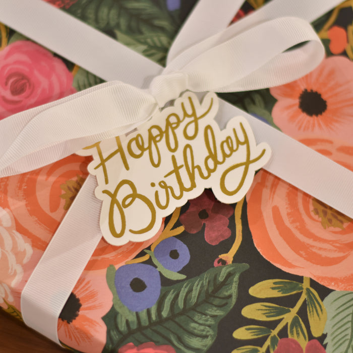 Die-Cut Gift Tags Happy Birthday