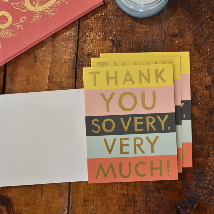 Color Block Boxed Thank You Note