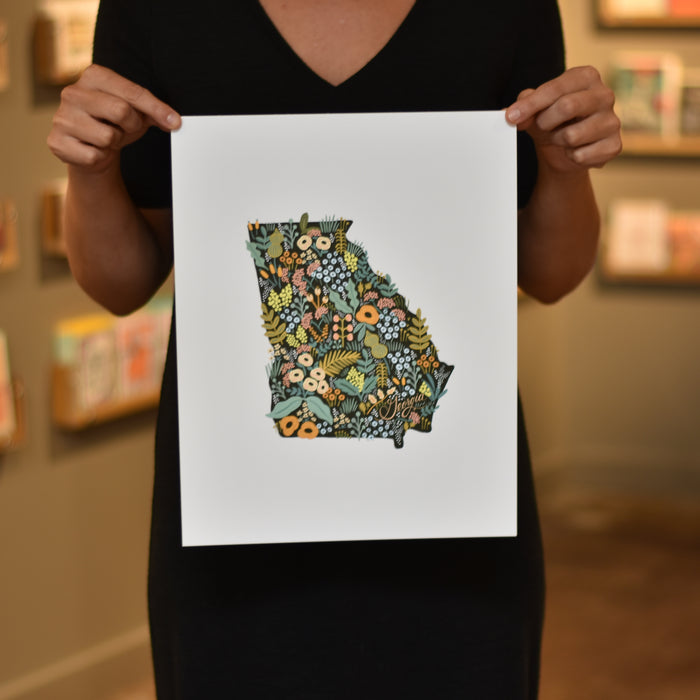 Georgia Wildflower Print