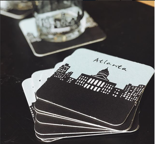 Atlanta Skyline Paper Coasters