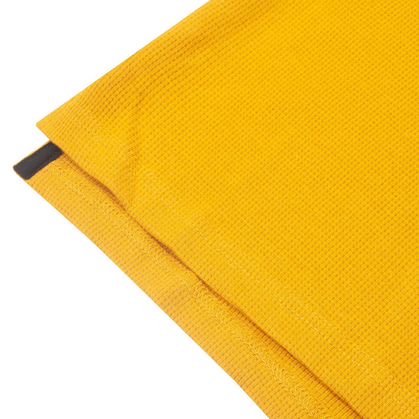 Waffle-Knit Thermal Long Sleeve Timbs Mustard