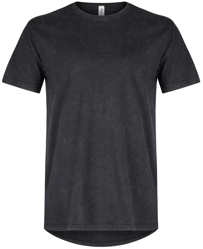 Basic Straight Scoop T-Shirt Black Snow Wash