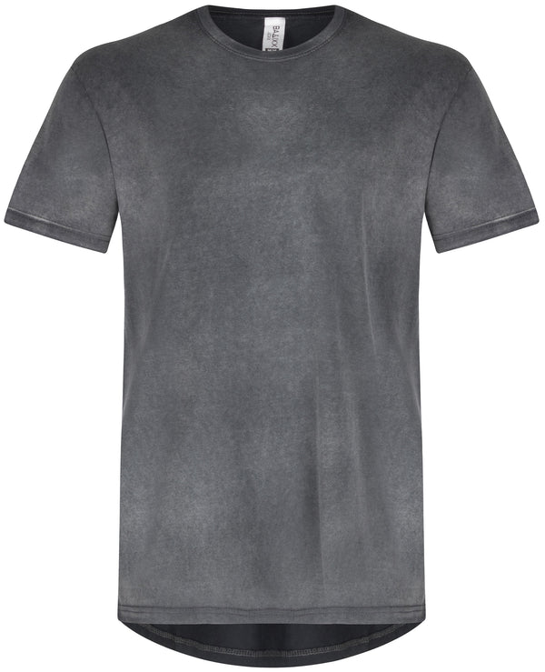 Basic Straight Scoop T-Shirt Grey Snow Wash