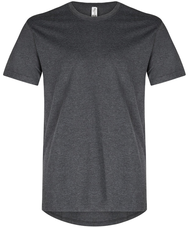 Basic Straight Scoop T-Shirt Heather Black