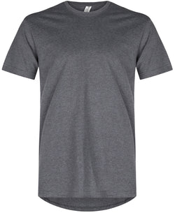 Basic Straight Scoop T-Shirt Heather Charcoal