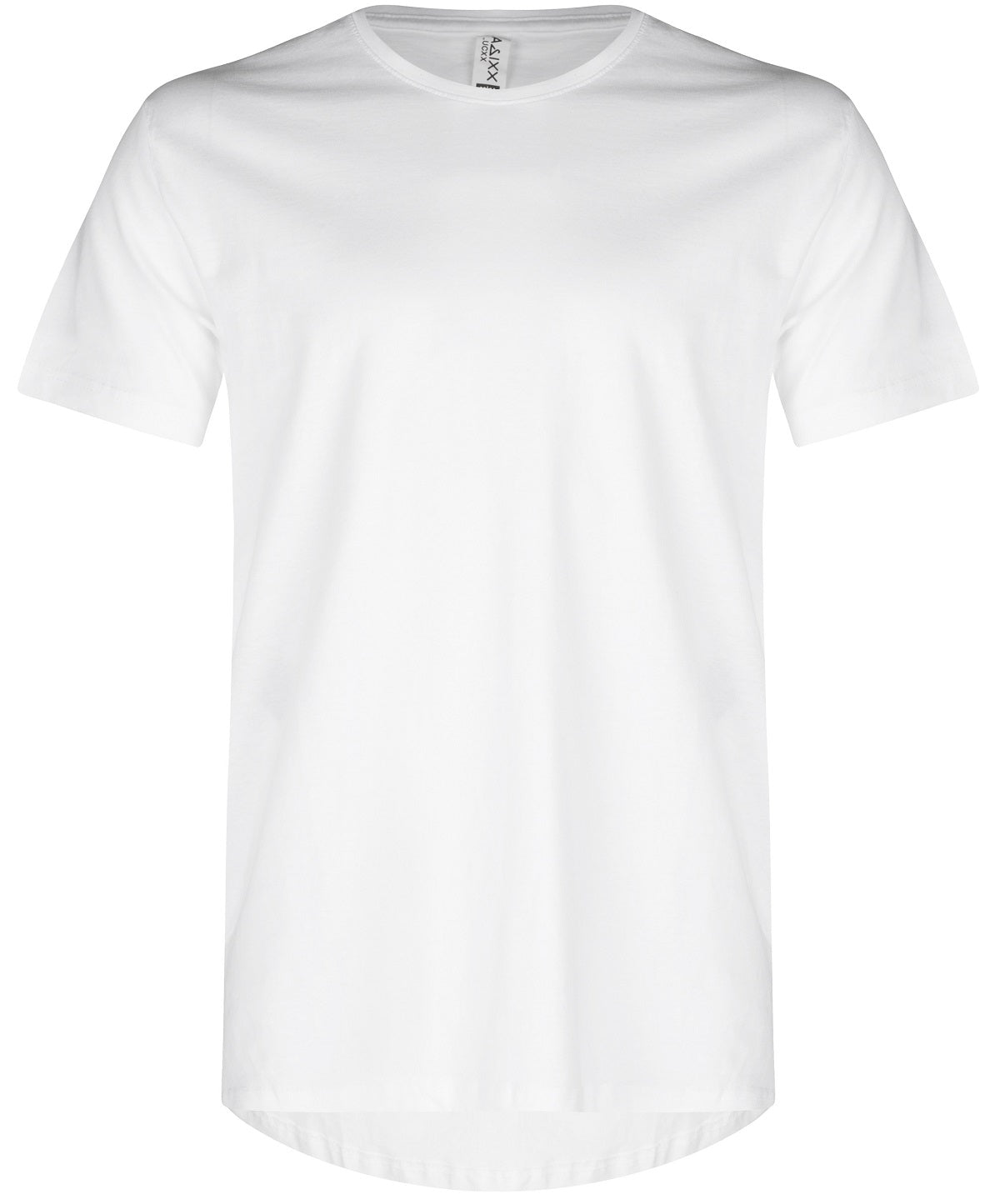 Basic Elongated Straight Scoop T-Shirt White