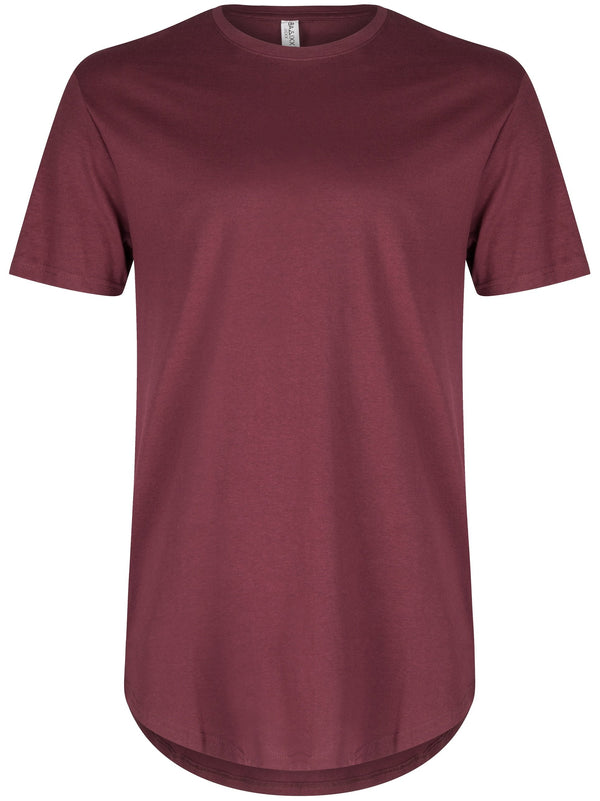 Basic Scoop T-Shirt Burgundy