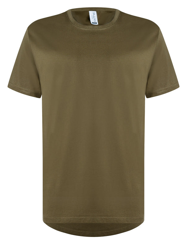 Basic Straight Scoop T-Shirt Olive