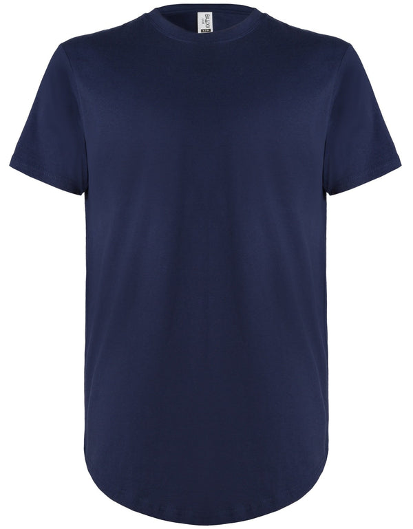 Basic Scoop T-Shirt Berry Blue