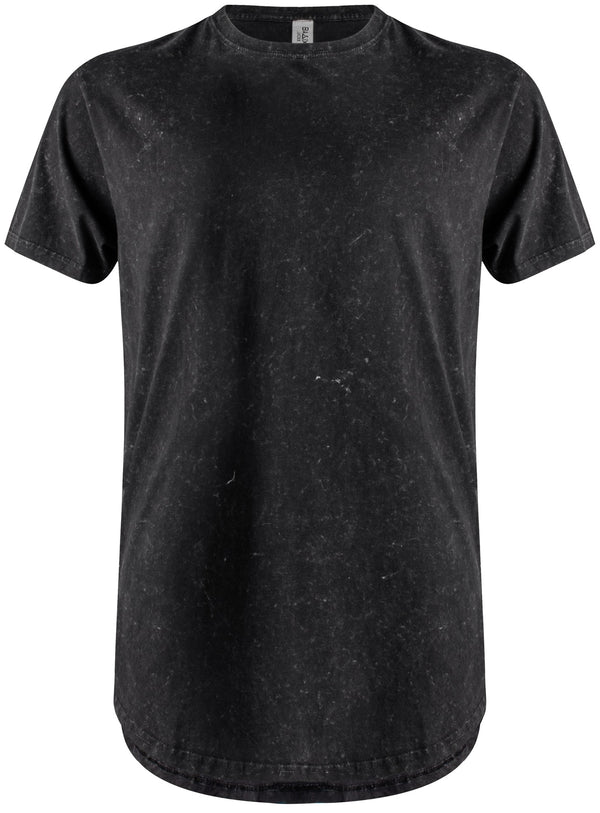 Basic Scoop T-Shirt Black Vintage Wash