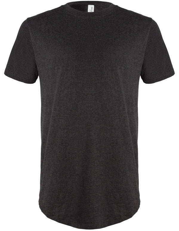 Basic Scoop T-Shirt Heather Charcoal