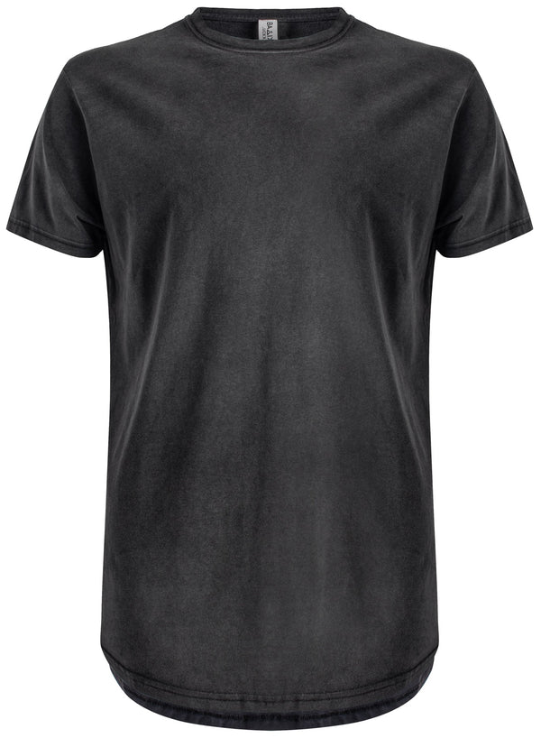 Basic Scoop T-Shirt Charcoal Vintage Wash
