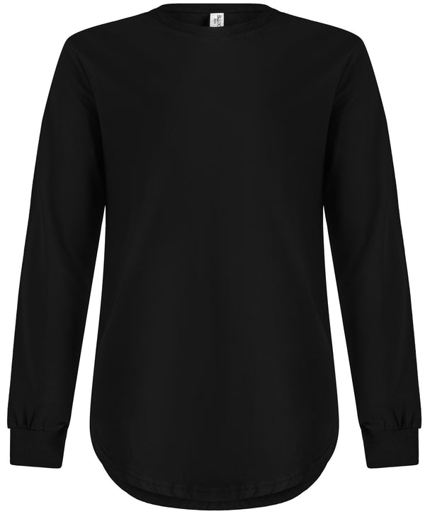 Long Sleeve Scoop Black