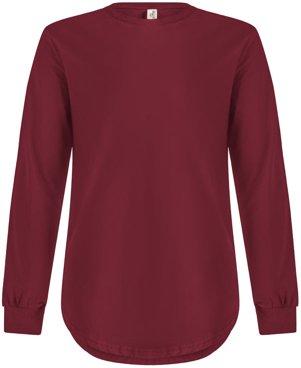 Long Sleeve Scoop Burgundy
