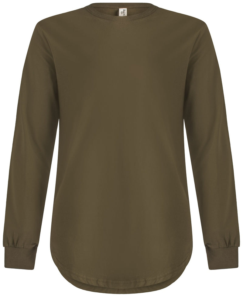 Long Sleeve Scoop Olive