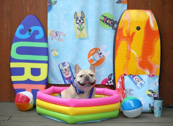 French Bulldog Love Cabana Collection Summer