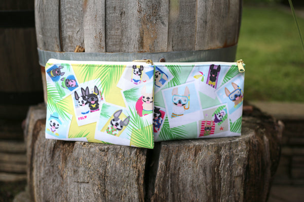 French Bulldog Love Summer Collection Snapshots Pouches