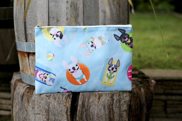 French Bulldog Love Summer Collection Pouch